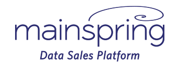 Mainspring Online Data Sales Platform